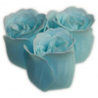 3 Baby Blue Roses  Heart Gift Box