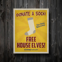 SPEW Free House Elves Propaganda Poster 11&quot; x 14&quot;