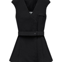 Chic Style Sleeveless Black Coat(Coming Soon) [NCSOX0008] - $85.99 :