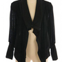 BLACK DRAPED KNIT CARDIGAN @ KiwiLook fashion