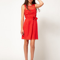 Whistles Narcie Lace Tiered Dress at asos.com