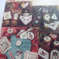Vintage Christmas Cross Stitch pattern booklet 33 handmade holiday designs Leisure Arts 1990 Lots of Christmas