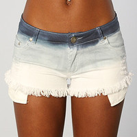 The Tie Dye Jean Shorts in Blue