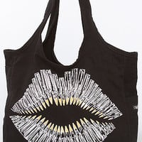 The Foil Bullet Lips Taylor Tote in Black