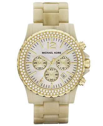 gold watch by Michael Kors