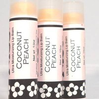 Coconut Peach Lip Balm, Handmade, T.. on Luulla