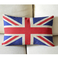 Union Jack Print Decorative Pillow B [047] : Cozyhere