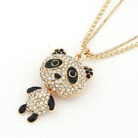 Cute Panda Gold Necklace@10070664