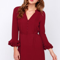 Maggie May Wine Red Dress