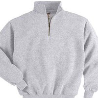 Jerzees 9 oz 50/50 Quarter-Zip Pullover with Cadet Collar.