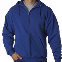 Jerzees 8 oz 50/50 Full-Zip Hood.