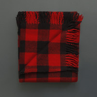Cabin Throw Red / Black