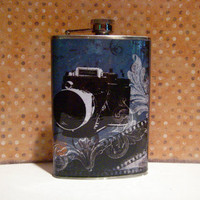 15 OFF ALL FLASKS Vintage Camera 8oz stainless by HarmlessHabit