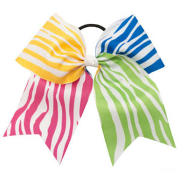 Extra-Large Zebra Cheer Hair Bow