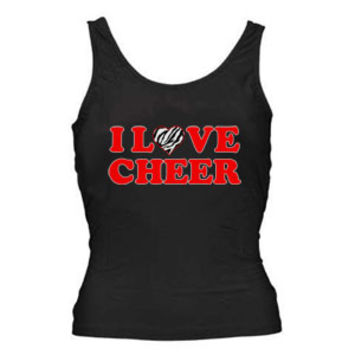 Zebra I Love Cheer Tank Top