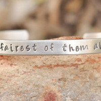 Hand stamped - Snow white - Fairest of them all - Kristen Stewart