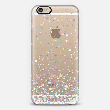 Pastel Confetti Star Rain Transparent iPhone 6 case by Organic Saturation | Casetify