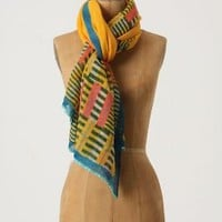 Bordered Bars Scarf, Gold - Anthropologie.com