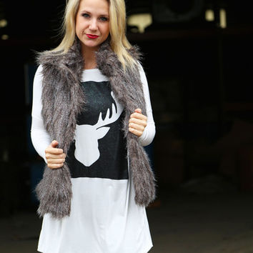Moose Christmas Tunic {Black}