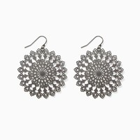 Daisy Doily Earrings | Fashion Jewelry - Winter Blooms | charming charlie