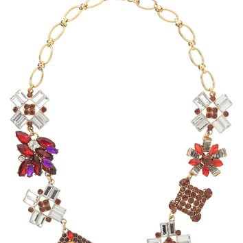 Multi color gem statement necklace