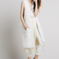 Free People Womens Cashmere Vest - Ivory