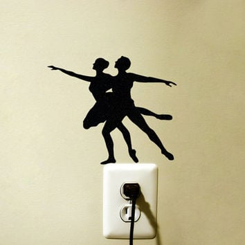 Ballet Dancer Velvet Decal - Ballerina Black Wall Art - Ballet Girls Room Decor
