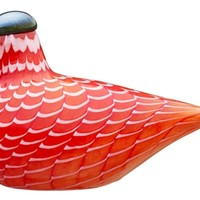 Iittala Toikka Cecil Red Grouse Glass Birds