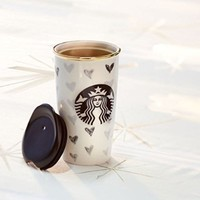 Starbucks Double Wall Traveler DOT Collection 12oz Black Heart (11040999)