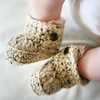 6 to 9 Months Baby Bootie Boots crocheted by handmadebabylove