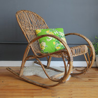 Amazing Albini Style Italian Modern Rocking Chair