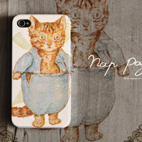 Apple iphone case for iphone iphone 4 iphone 4s iphone 3Gs : vintage kitty cat