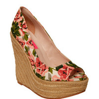 PEEP TOE WEDGE - Betsey Johnson