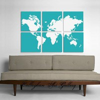 Custom World Map Collection of 6  by CallaghanArtGallery on Etsy