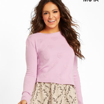 Aeropostale  Heart Crop Sweater