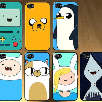 Adventure time 7 case set Iphone 4s and Iphone 4 Case, Cover