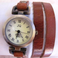 New vintage Genuine leather fashion Wrap Women watch ladies wrist watch. 20% Off - 69 Dollars Only. FREE SHIPPING