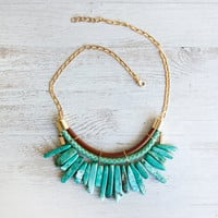Chinese Turquoise Sticks  Necklace by Pardes