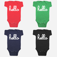 Hello Merch — Hello Individual One-Pieces with snaps