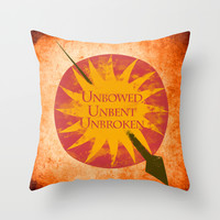 Game of Thrones - House Martell Throw Pillow by MUSENYO