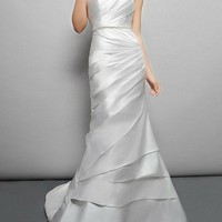 Elegance Satin Strapless Mermaid gown - Basadress.com