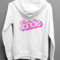 Barbie Bride Hoodie warmup bridal party lounge wear Small