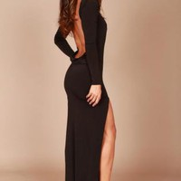 Long classic backless dress