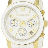Michael Kors Watches White PU Runway (White)