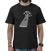 Alien Abduction B&W Tee Shirts from Zazzle.com