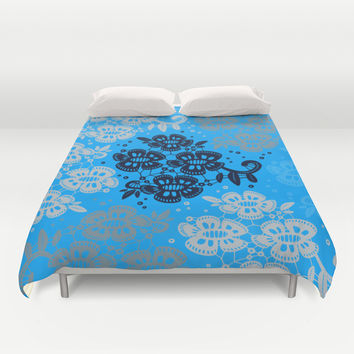 Floral Pattern #9 Duvet Cover by Ornaart