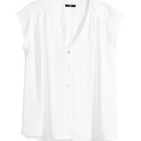 Cap-sleeve Blouse - from H&M