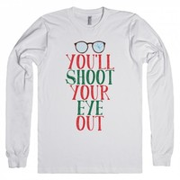 White/Black T-Shirt | Cute Christmas Story Movie Shirts