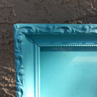 Tiffany Blue Vintage Wood Frame by ReVampeDesigns on Etsy
