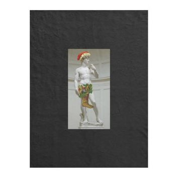 David Santa Christmas Fleece Blanket